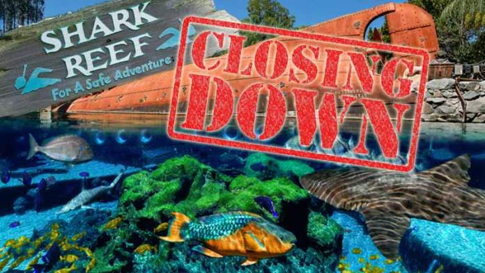 typhoon lagoon shark reef closing