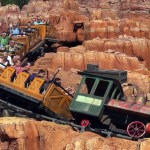 riding big thunder mountain railroad