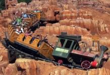 riding big thunder mountain railroad