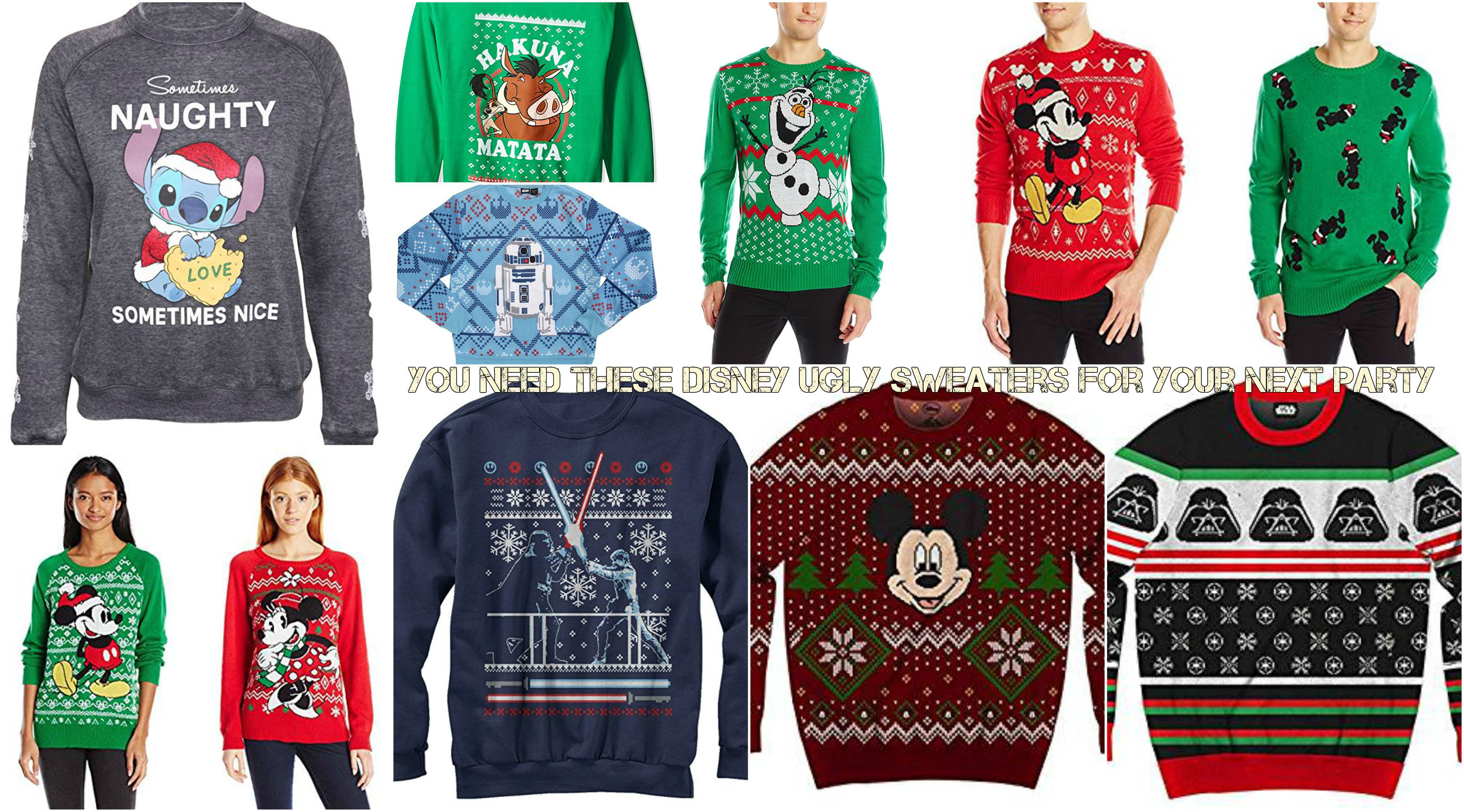 You Need These Disney Ugly Sweaters For Your Next Party - talkDisney ...