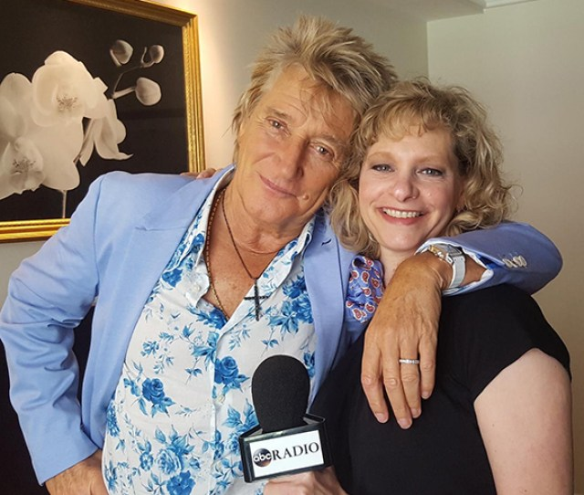 Rod Shares Red Roses With Dresdale During His Interview With Abc Radios Andrea Dresdale R One Of The Most Prolific Pop Star Interviewers In Radio