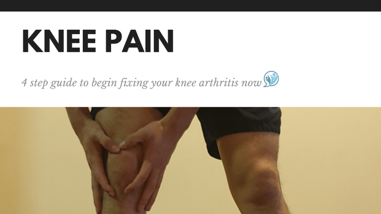 4 step guide to begin fixing your knee arthritis now!