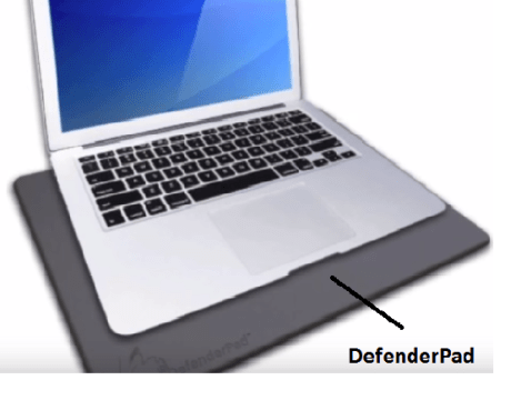 Laptop with DefenderPad