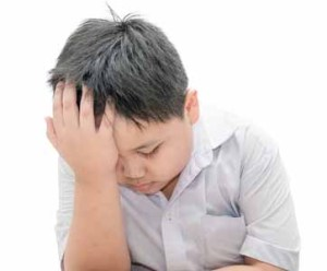 boy with headache