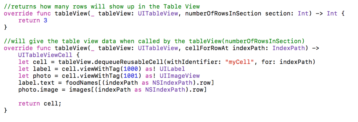 Creating a Simple Table View in Swift – Talk Dev Design
