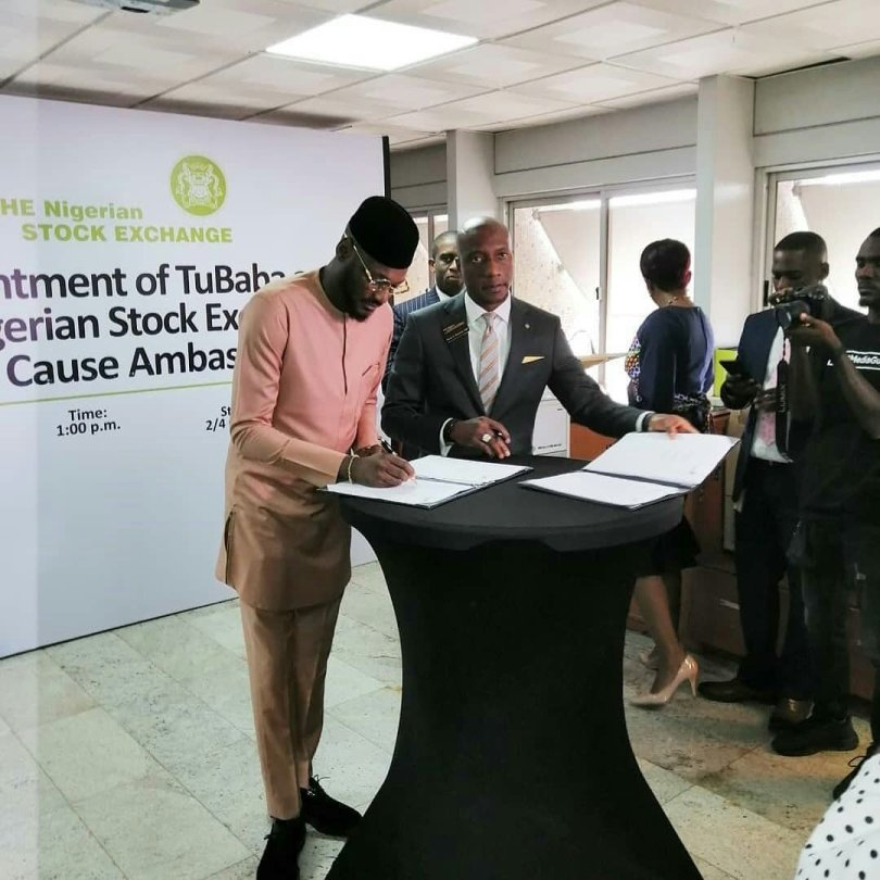 2Baba becomes Nigeria Stock Exchange Good Cause Ambassador