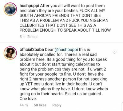 Xenophobia: 2Baba cautions Hushpuppi after he spoke out