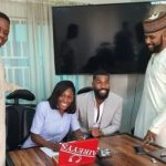 Banky W signs BBNaija star, Mike and his wife, Perri to EME (Photos)