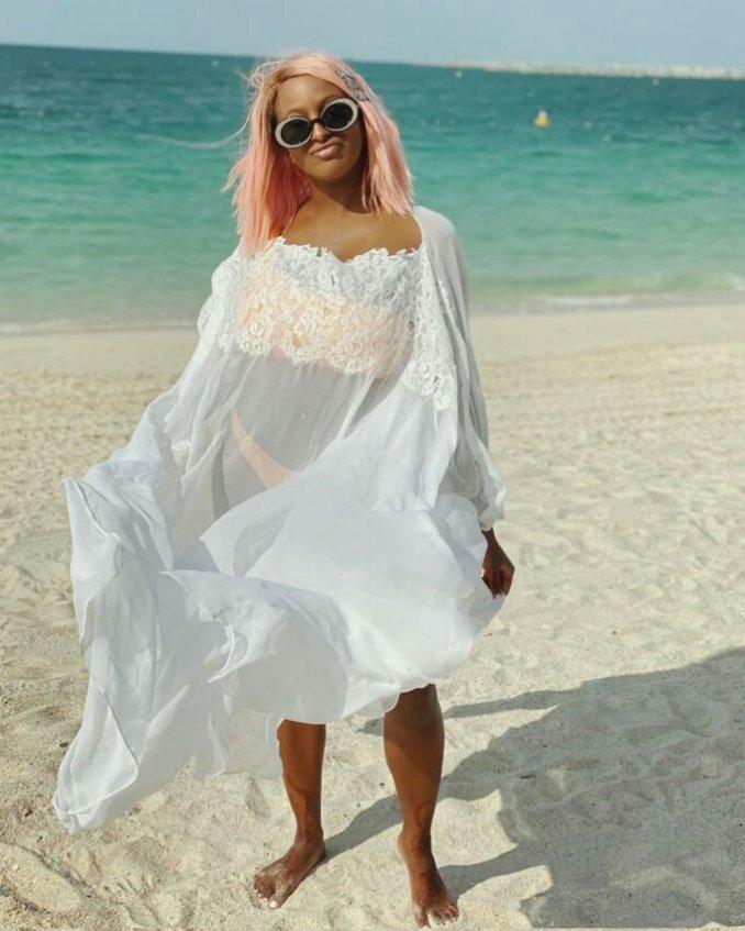 DJ Cuppy looking too hot on bikini photos as she reveals she is still single