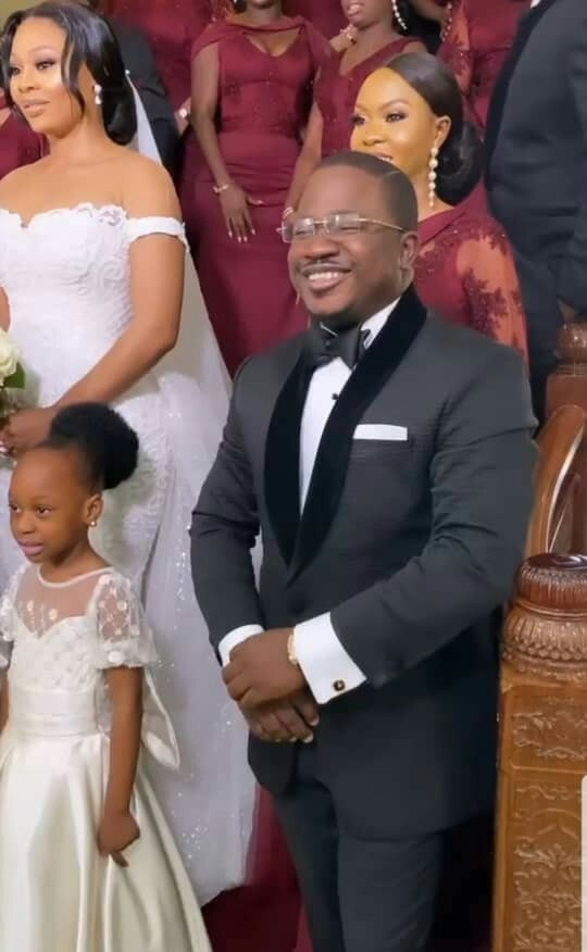 See photos from 9ice's white wedding to his baby-mama, Olasunkanmi