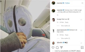 'Coranavirus is real, stay safe out there' - Olamide advises