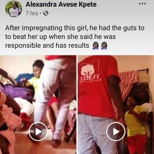 Man beats up his girlfriend mercilessly after impregnating her (video)