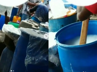 Video showing how hand sanitizers are being produced in Ojota Market surfaces online