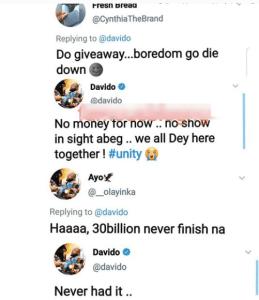 'I have never had 30 billion' - Davido confesses