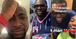 Davido burst in tears as he loses close friend to death (video)