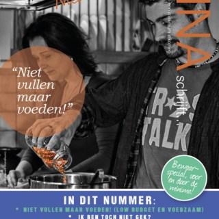 Op de cover van magazine Dina Schrijft