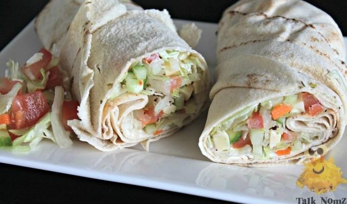 Vegetarische wrapwich met Libanees brood – Kiddielunch #15