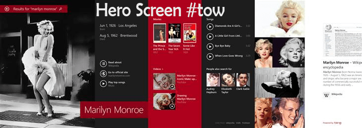 Hero Screen of Windows 8