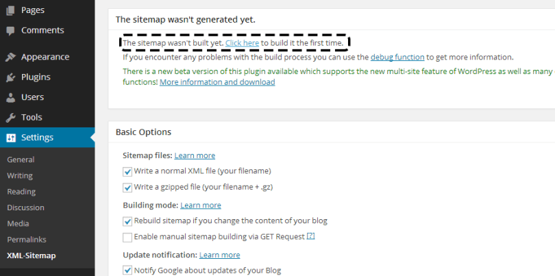 Build Sitemap in WordPress