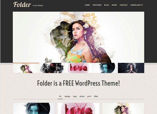 folderfree WordPress theme