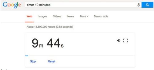 google tricks - stopwatch