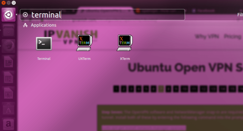 open vpn search ubuntu