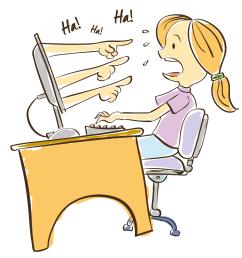 woman cyberbullying cartoon [ 1320 x 1285 Pixel ]