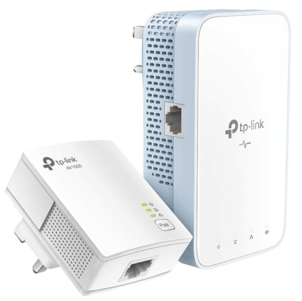 TP-Link AV1000 Gigabit Powerline ac Wi-Fi Kit, Broadband/WiFi Extender, WiFi Booster/Hotspot, Up to 300 meters over existing electrical wiring, No Configuration Required, UK Plug(TL-WPA7517 KIT)