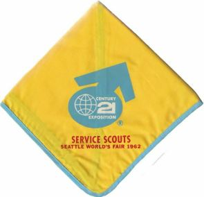 1962 Worlds Fair Service Scouts Scarf