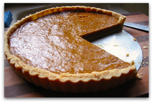 Pie 2 made in a French tart style in honor of its puree from a French pumpkin, Galeux d'Eysines