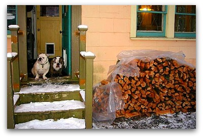 wood pile delivered by the spirit of Christmas