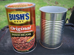 bush's baked bean can: my preferred mason bee home super-structure