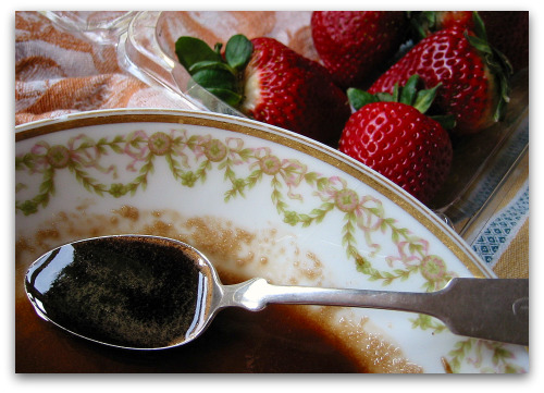 brown sugar and basalmic vinegar syrup for strawberries