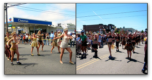 Vashon Strawberry Festival dancing in the streets