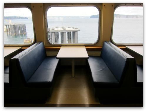 Washington State ferry Issaquah interior