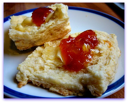 apricot jam and biscuits