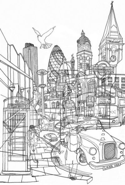 London. Ilustración de David Bushell