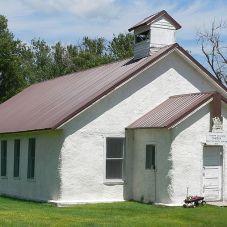 casa de balas de paja antigua