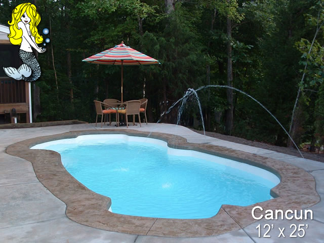 Cancun Freeform Fiberglass Swimming Pools Tallman Pools