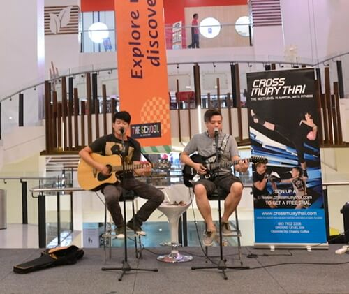 Be entertained by music from aspiring artistes