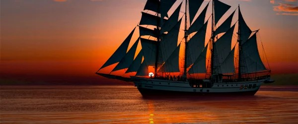 sailing on sunset with 22 sails royal albatross