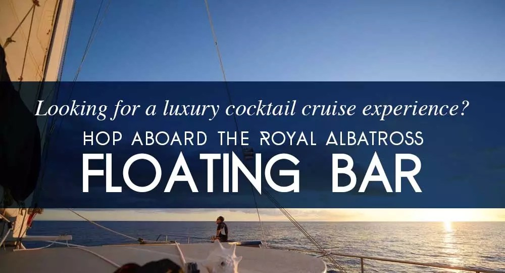 luxury cocktail cruise floating bar royal albatross