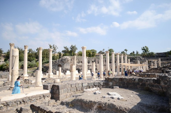 The ancient Roman city Beth Shean or Scythopolis was the capital city of the Decapolis and was the only one on the west side of the Jordan River.