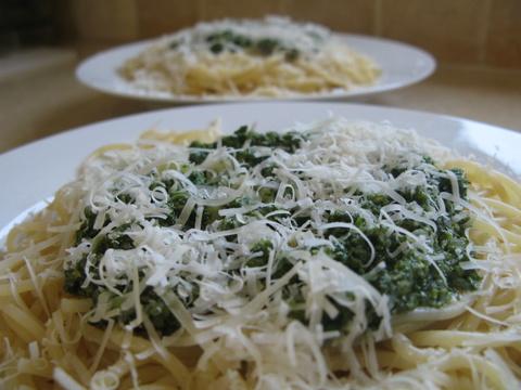 ספגטי ברוטב פסטו ביתי