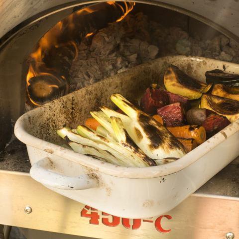 ירקות שורש צלויים בשמן זית