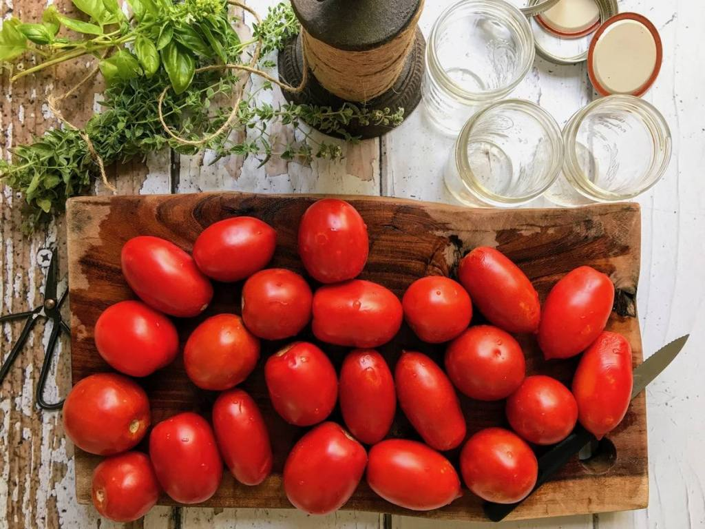 הכנות להכנת רוטב עגבניות ביתי