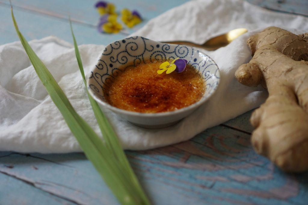 קרם ברולה בטעם ג'ינג'ר ולמון גראס