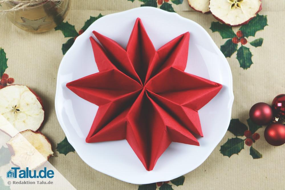Serviette Falten Weihnachten  ragopigeinfo