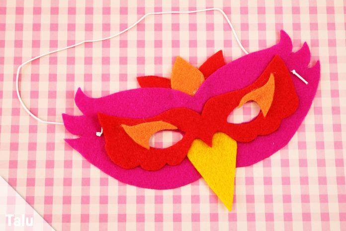 Vogelmaske basteln  Anleitung mit Vorlage und Schablone  Talude