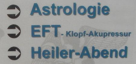Astrologie -- EFT, Klopf-Akupressur - Heiler-Abend